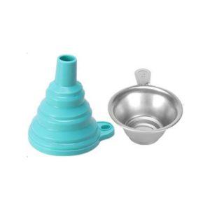 kit filtro y embudo resina azul